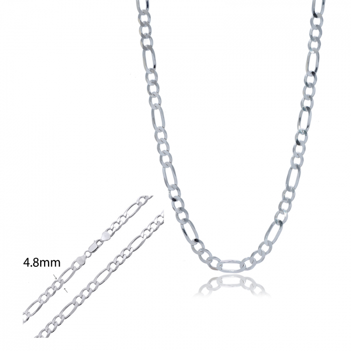 Lant  barbatesc din Argint 925% cu lungimea de 55cm, model Figaro [3]
