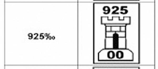 Lant Argint model Figaro-Flat 2152-65-60 [4]