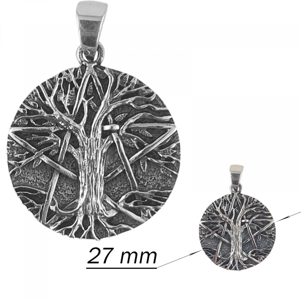 Medalion Argint 925% stilizat si aspect usor vintage [1]