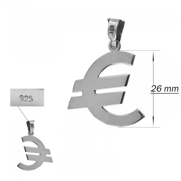 Medalion Argint 925% cu simbolul Euro [1]