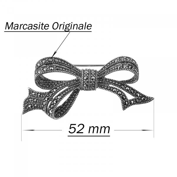Brosa-medalion Argint 925% cu marcasite Gentle [2]