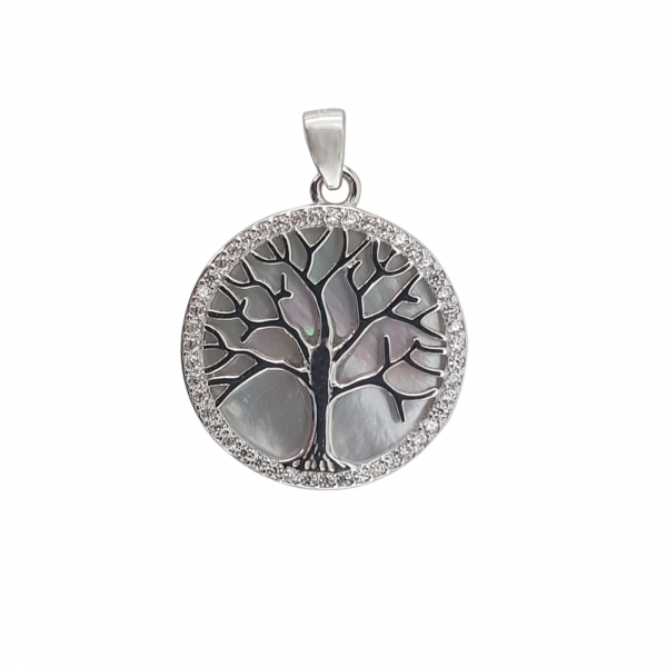 Pandantiv Argint 925%, Copacul Vietii cu Sidef 1876 [0]