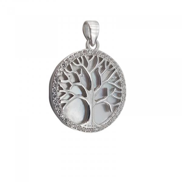 Pandantiv Argint 925%, Copacul Vietii cu Sidef 1876 [1]