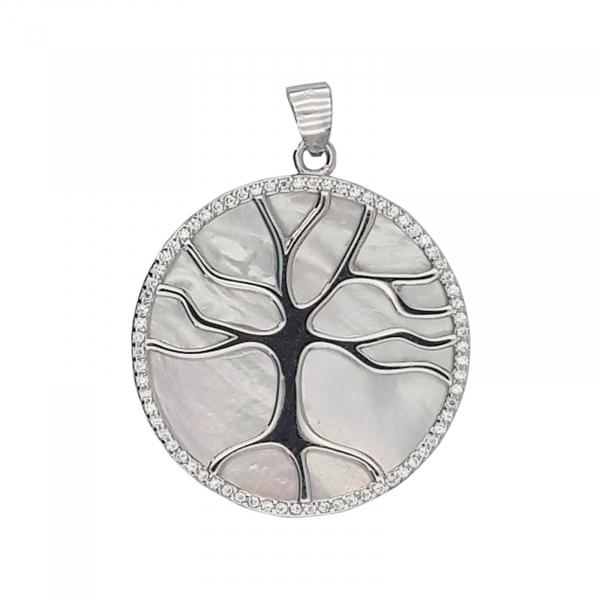 Pandantiv Argint 925% ,Copacul vietii pe Sidef Alb 1914 [0]