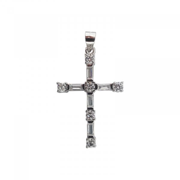 Pandantiv Argint 925% ,Cruce cu Zirconii 1853 [0]