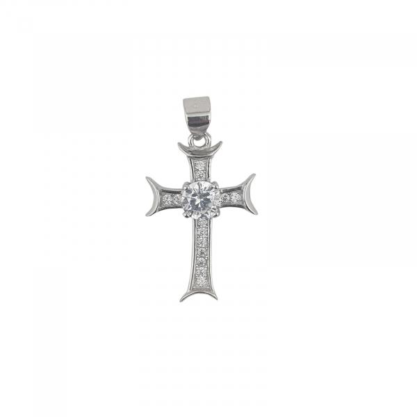 Pandantiv din Argint 925% cruce cu zirconii 2032 [0]