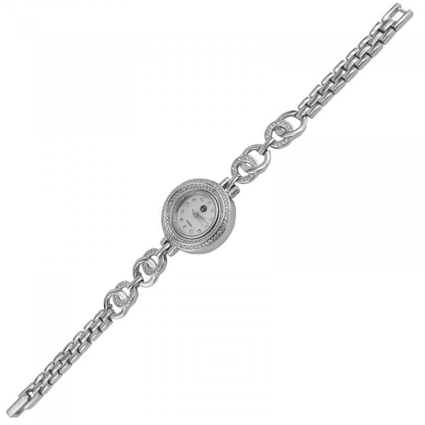 Ceas Argint 925% cu zirconii albe si cadran rotund [1]