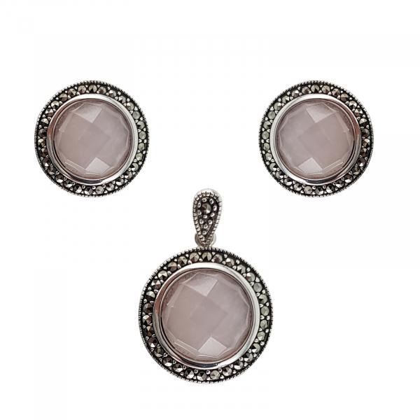Set Argint 925% Pink Quartz [0]