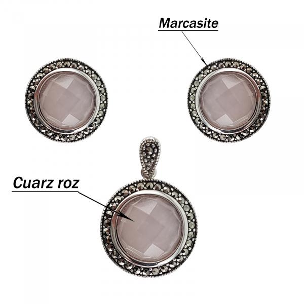 Set Argint 925% Pink Quartz [3]