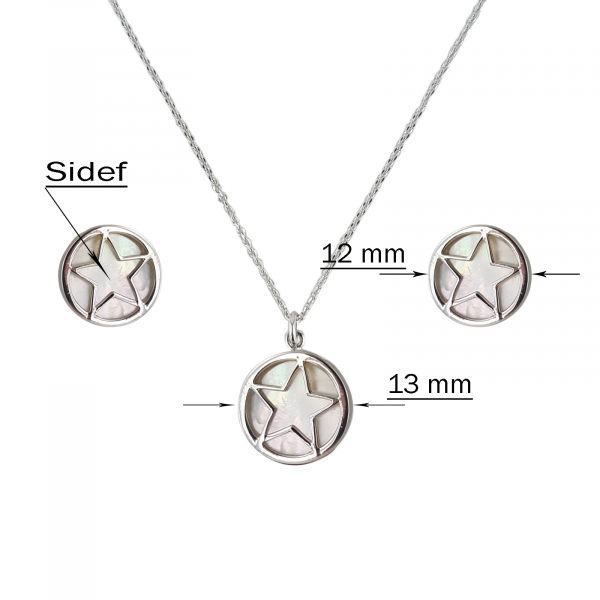 Set Argint 925% cu sidef alb [2]