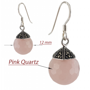 Set Argint 925% cu marcasite si cuart roz [2]