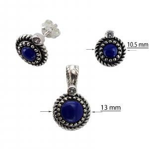 Set Argint 925% cu Lapis Lazuli si aspect usor vintage [1]