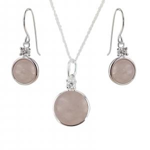 Set Argint 925% Round Pink [0]