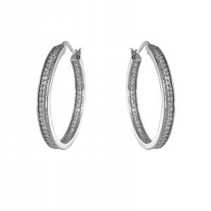 Creole Argint 925% cu zirconii albe si diametrul de 35mm [0]
