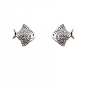 Cercei Argint 925% Silver Fish [0]