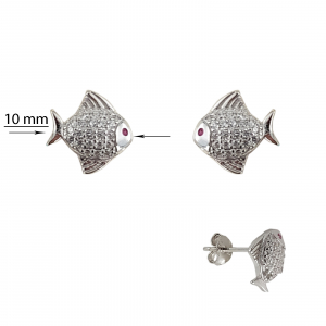 Cercei Argint 925% Silver Fish [2]
