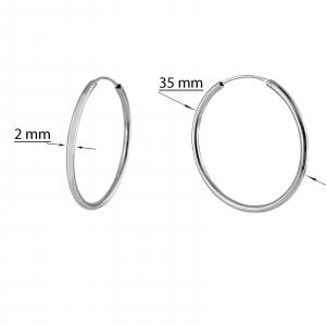 Creole Argint 925% cu diametrul de 35mm [2]