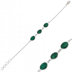 Bratara Argint 925% si smaralde [0]