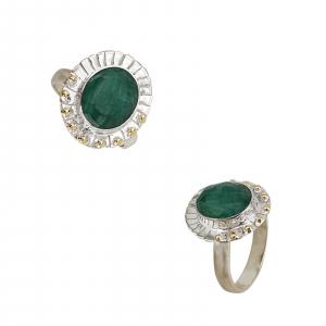 Inel Argint cu Smarald [0]