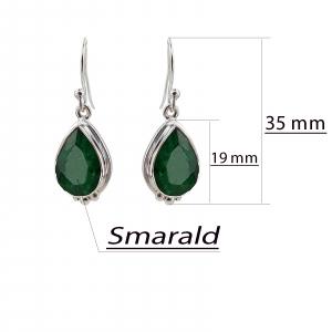 Cercei Argint 925% cu smaralde [2]