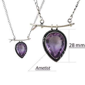 Colier Argint cu Ametist [3]
