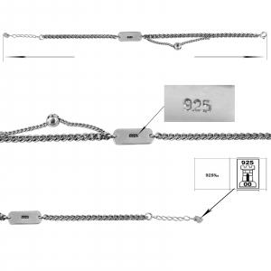 Bratara Argint 925% cu placuta Trendy [1]
