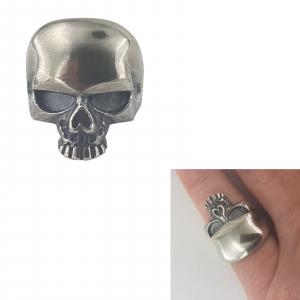 Inel Argint 925% sub forma de craniu [2]