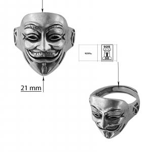 Inel Argint 925% , masca antichizata [2]