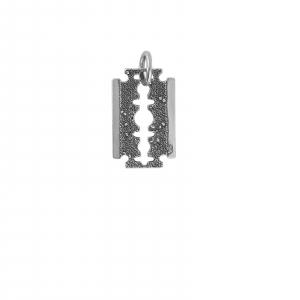 Medalion Argint 925%  lama de ras usor antichizata [0]