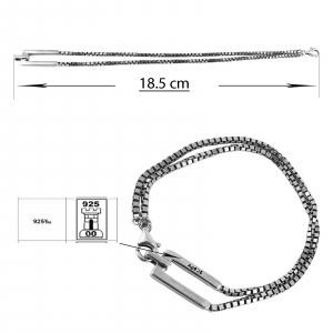 Bratara Argint 925% dubla   cu aspect usor vintage [2]