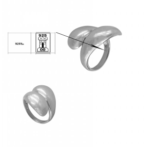 Inel din Argint 925% simplu, reglabil [2]