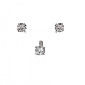 Set Argint 925% cu CZ albe de 6mm [0]
