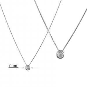 Colier Argint 925% cu zirconia de 7mm [1]