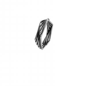 Inel Argint 925% reglabil, cu aspect usor vintage [0]