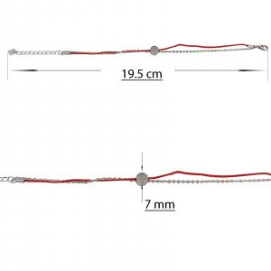 Bratara Argint 925% dubla cu snur rosu [1]