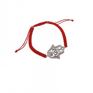Bratara Argint 925% cu snur rosu [0]