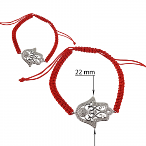 Bratara Argint 925% cu snur rosu [1]