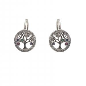 Cercei Argint 925% Copacul Vietii multicolor [1]