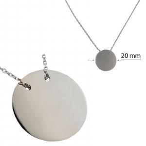 Colier Argint 925% cu banut de 20mm [1]