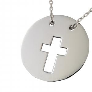Colier Argint 925% Circle Cross [1]