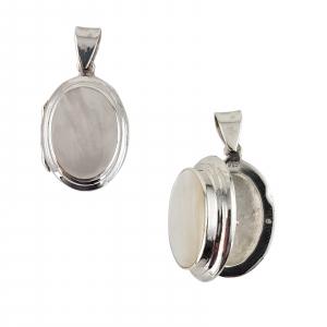 Medalion Argint 925% de forma ovala care se deschide [2]