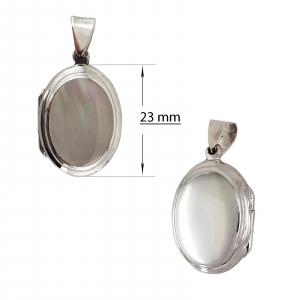Medalion Argint 925% de forma ovala care se deschide [3]
