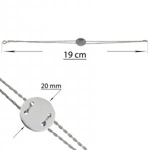 Bratara Argint 925% cu banut de 20mm [2]