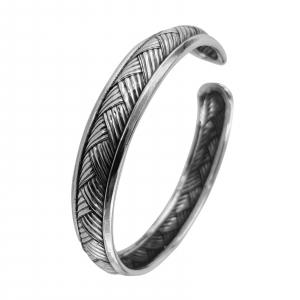 Bratara fixa din Argint 925% cu aspect usor antichizat [0]