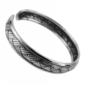 Bratara fixa din Argint 925% cu aspect usor antichizat [1]