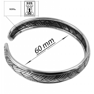 Bratara fixa din Argint 925% cu aspect usor antichizat [2]