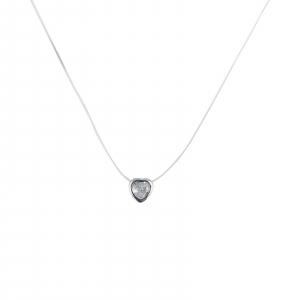 Colier Argint 925% pe silicon transparent cu inimioara [0]