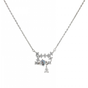 Colier Argint 925% cu zirconia albe [2]
