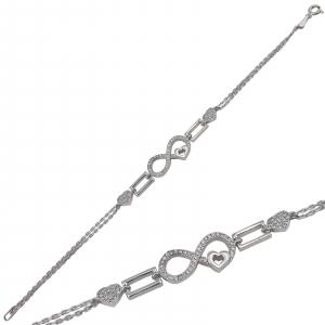 Bratara Argint infinit cu zirconia albe, cod 2191 [1]