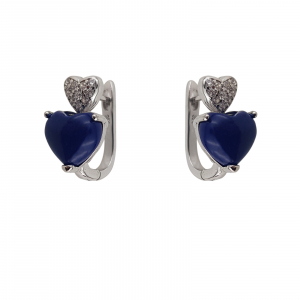 Cercei Argint 925% cu Lapis Lazuli si inimioare [0]